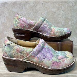 Born b.o.c Norda Pastel Floral Clogs